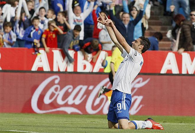 La tarde empezó bien para el Zaragoza, con un golazo de Postiga.