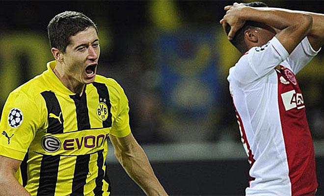 El gol del polaco permitió al Dortmund arrancar esta Champions con un triunfo por la mínima ante el Ajax (1-0).