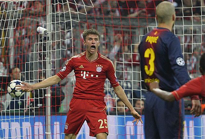 Si había alguna duda del poderío del Bayern, quedó disipada en la eliminatoria contra el Barcelona, que quedó resuelta en el partido de ida con el 4-0. Müller hizo dos.
