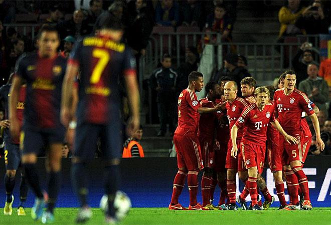 La superioridad del Allianz se traslad� al Camp Nou, donde el Bayern gan� por 0-3 para completar una inolvidable eliminatoria. Una m�quina.