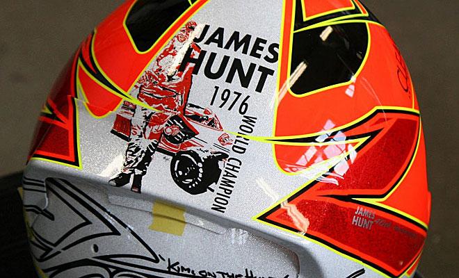 Es un homenaje al campeón del mundo James Hunt en 1976.