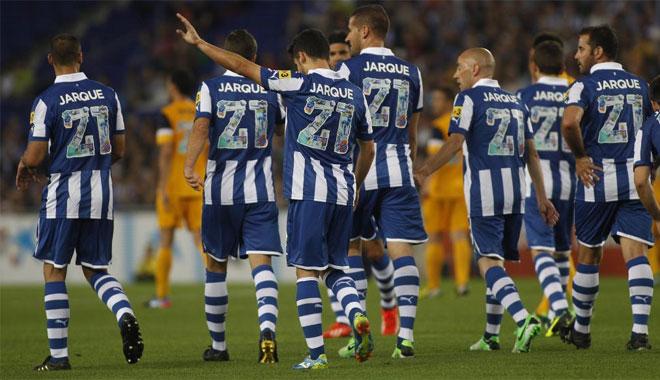Un combinado de jugadores y ex jugadores del Espanyol se midi� a un combinado de jugadores de la Liga para recordar a Dani Jarque.