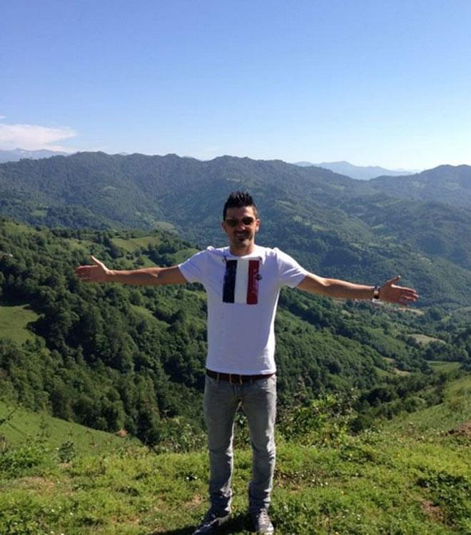 David Villa disfruta en Asturias, paraíso natural.