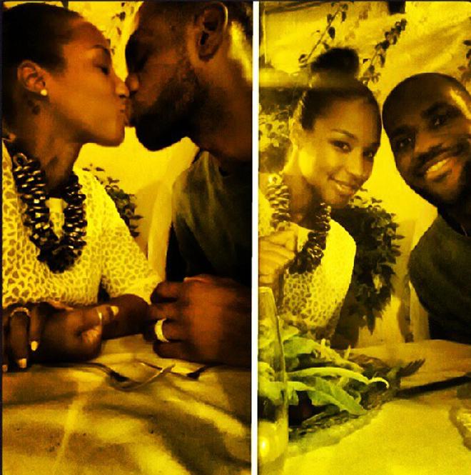 """LeBron James y Savannah (""""Queen James"""", seg�n el propio jugador) disfrutan de una acaramelada en un restaurante romano durante su luna de miel"""