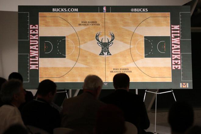 Los Milwaukee Bucks presentaron el dise�o de su nuevo parqu�.