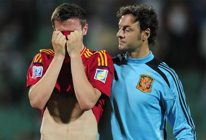 Los chicos de Lopetegui no pudieron evitar las lágrimas tras perder con Uruguay y decir adiós al Mundial sub 20. Aquí tienes las imágenes más impactantes.