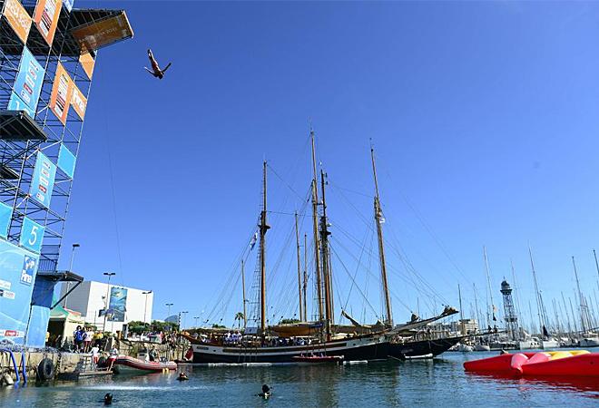 La prueba de High Diving se estrenó en el Mundia con saltos espectaculares desde 26 metros.