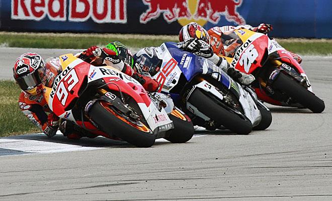 M�rquez sigui� fiel a su plan de todo el fin de semana y sac� el martillo para decidir la carrera.