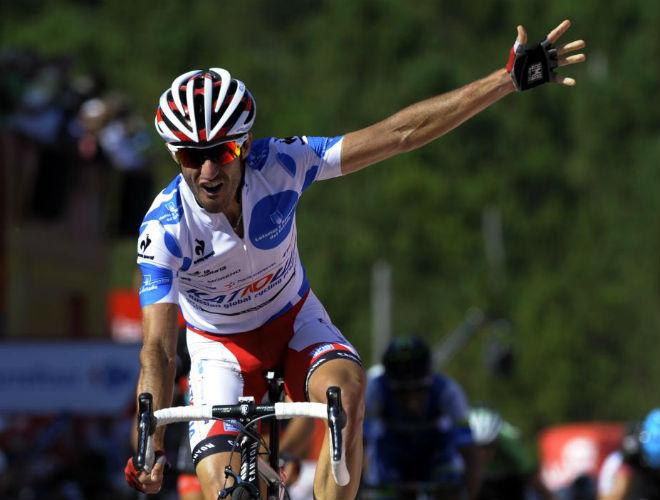 Dani Moreno consiguió la primera victoria española en la Vuelta 2013.