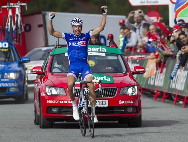 Geniez ganó en el pirineo francés, la única etapa que acababa en territorio vecino, su país de origen.