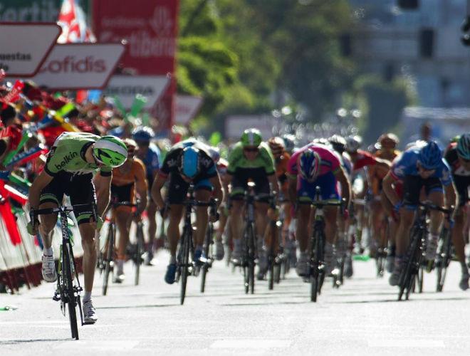 Mollema lanzó un órdago a los sprinters en Burgos y le salió bien la jugada.