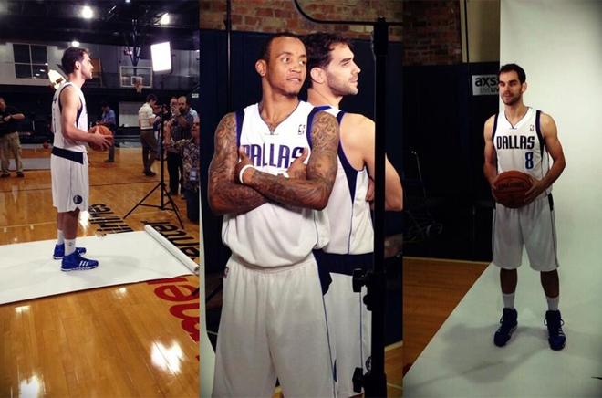 Víctor Claver (Blazers, Pau Gasol (Lakers), Marc Gasol (Grizzlies, José Manuel Calderón (Mavericks), Ricky Rubio (Timberwolves) y Serge Ibaka (Thunder) se pusieron de largo de cara a la temporada NBA 2013-2014 en el Media Day de sus respectivos equipos.
