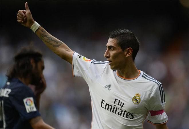 Angel di Maria during the Spanish league football match Real Madrid vs Malaga.