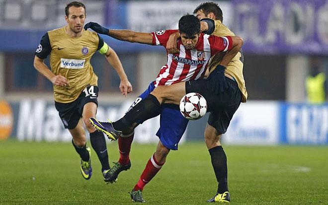 Marking Diego Costa.