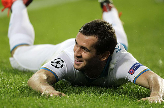 Kerzhakov gave to Zenit its first win in the Champions League.