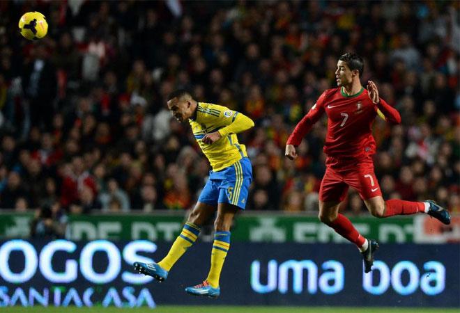 Suecia controló a Cristiano hasta que pudo. Cerca del final, el 7 rompió las puertas de la casa sueca.