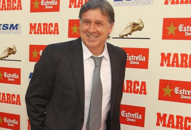 El entrenador del Bar�a no pod�a faltar a la entrega de la Bota de Oro a Messi.