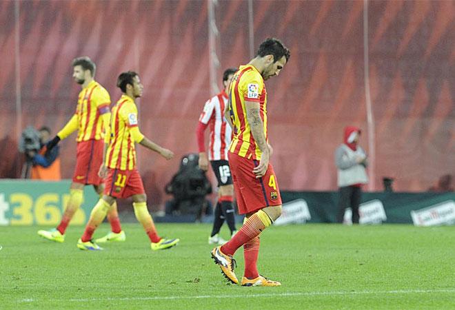 El Barcelona se marchó derrotado y superado de San Mamés.