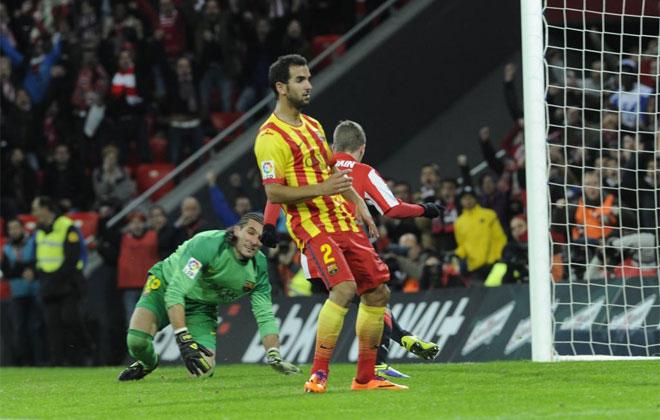 Muniain fue el encargado de marcar el gol del triunfo del Athletic.