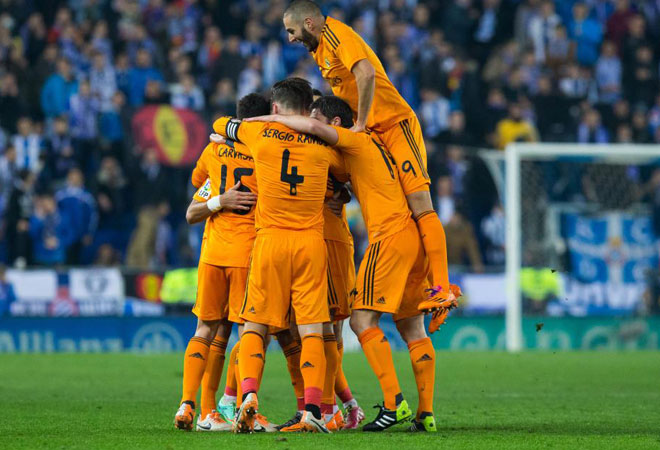 El Madrid no fall� y aprovech� el empate del s�bado en el Calder�n. Los blancos se colocan a tres puntos de Bar�a y Atleti.