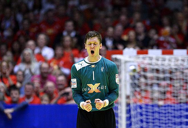 Niklas Landin fue muy dif�cil de batir durante toda la segunda mitad.