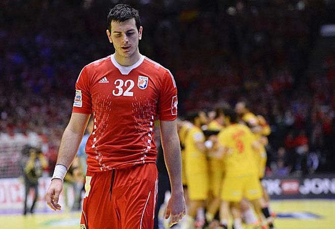 As� se retiraron los croatas como Sliskovic tras acabar el partido.