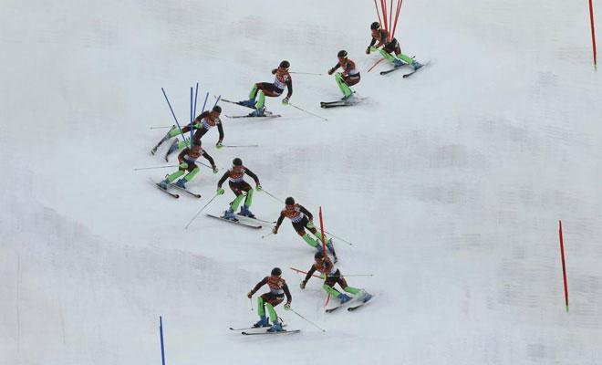 Esquí alpino<br> · 33º en slalom<br> · No terminó el gigante
