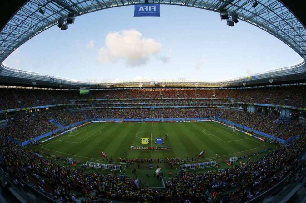 Preciosa panor�mica del estadio Beira Rio de Porto Alegre.