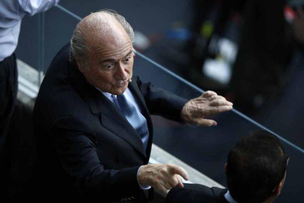 El presidente de la FIFA, Joseph Blatter, asisti� al encuentro.