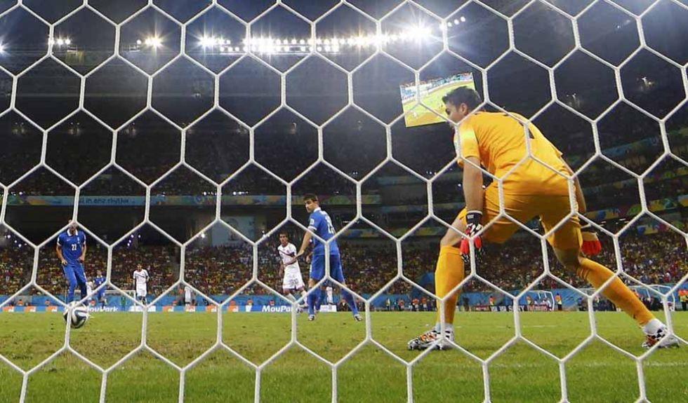 Costa Rica se adelant� al comienzo del segundo tiempo.