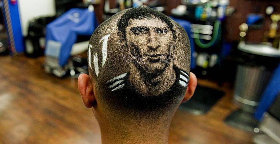 Un peluquero de Texas cortó el pelo a un cliente con la imagen de Messi en la coronilla.