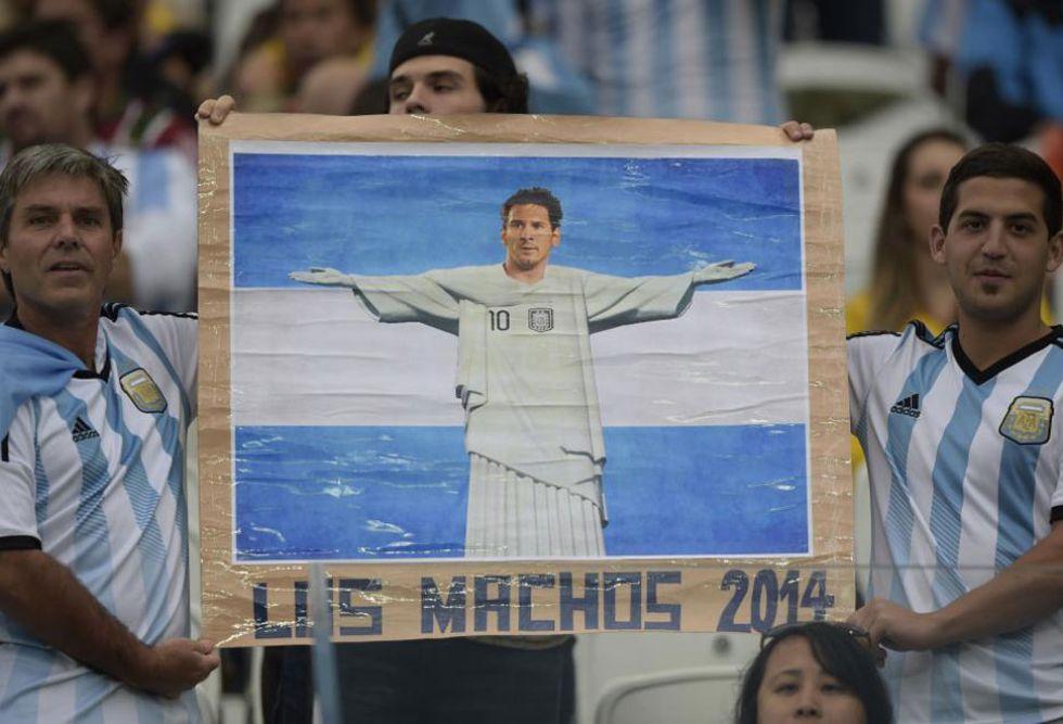 Leo Messi conquistando Brasil al mando de Argentina. Con eso sue�as todos los hinchas albicelestes.