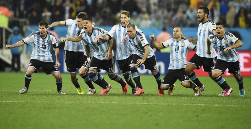 Alegr�a desbordada la de los argentinos. Vuelven a la final de un Mundial 24 a�os despu�s.