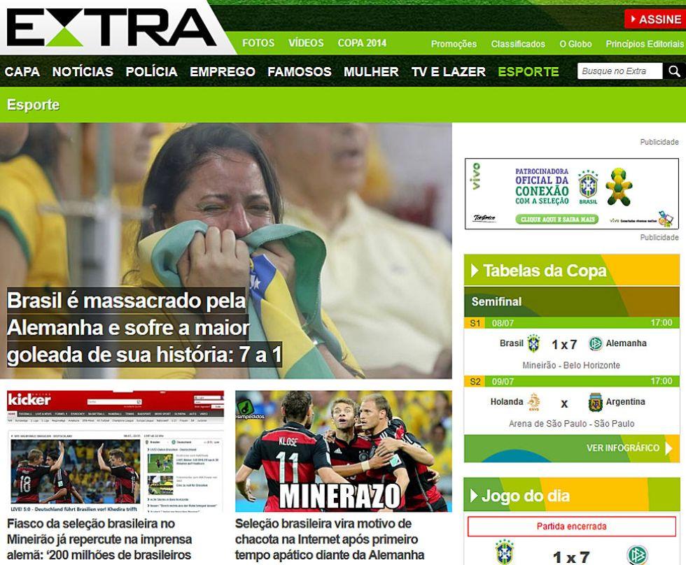 Brasil masacrado por Alemania sufre la mayor goleada de su historia