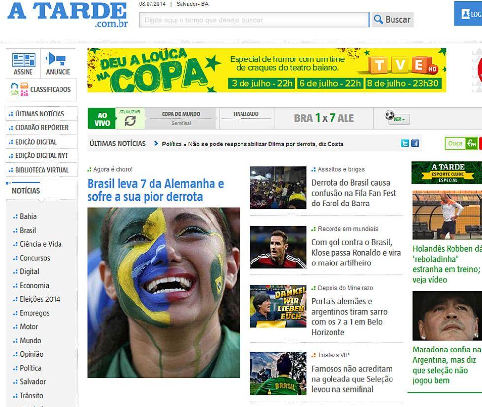 Brasil se lleva siete de Alemania y sufre su peor derrota