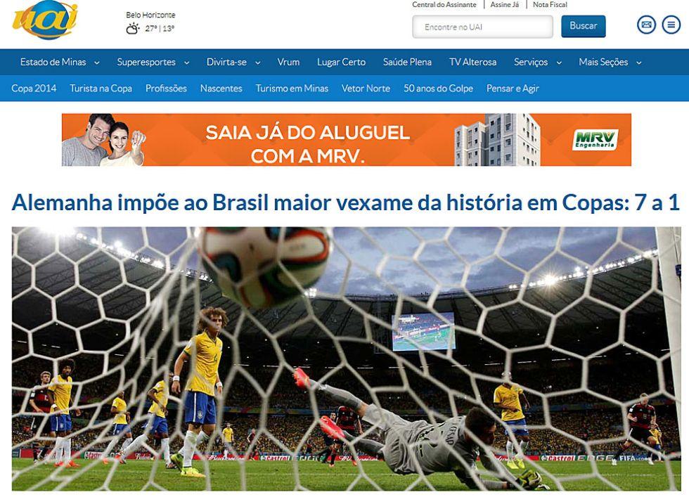 Alemania impone a Brasil su mayor derrota en Copas: 7 a 1.