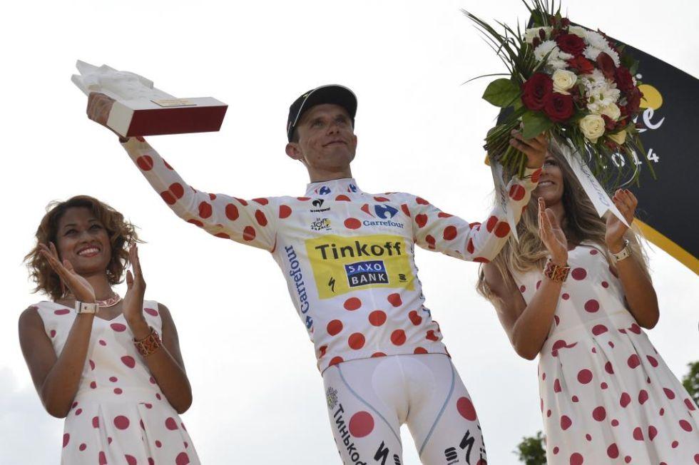El polaco Rafal Majka consiguió ganar el maillot de lunares como mejor de la montaña.
