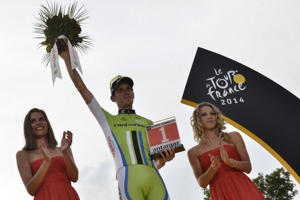 El italiano De Marchi se llevó el premio al corredor más combativo del Tour.