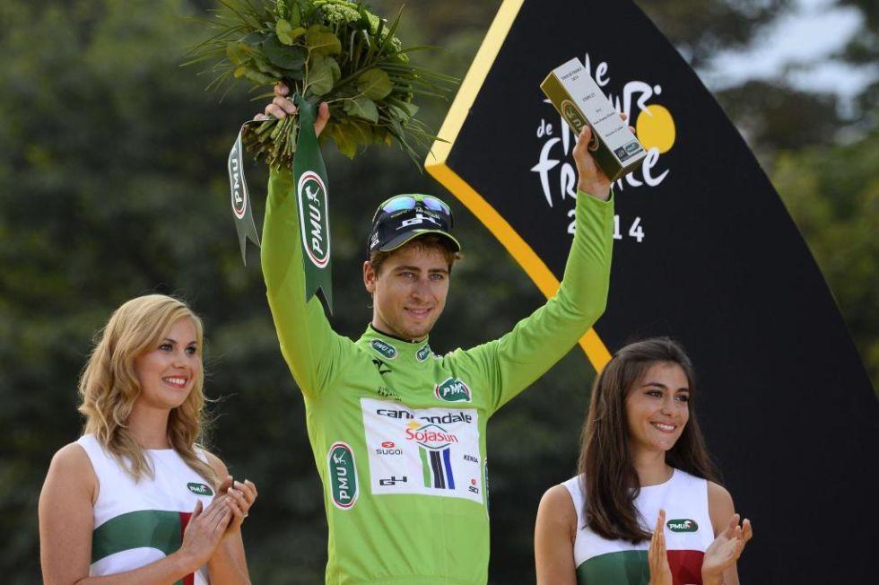 Peter Sagan volvi� a ganar el maillot verde como mejor de la regularidad a pesar de que esta vez no consigui� ganar ni una etapa.