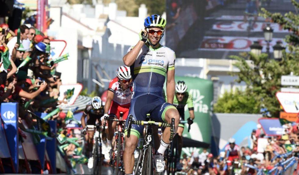 Michael Matthews logr� en Arcos de la Frontera su tercera victoria en una Vuelta a Espa�a despu�s de las dos conseguidas el a�o pasado.