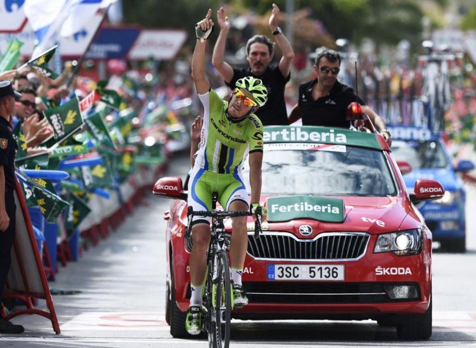 Alessandro De Marchi consigui� su primer triunfo en una gran vuelta despu�s de intentarlo constantemente en el pasado Tour de Francia, donde se llev� el premio final de la combatividad.