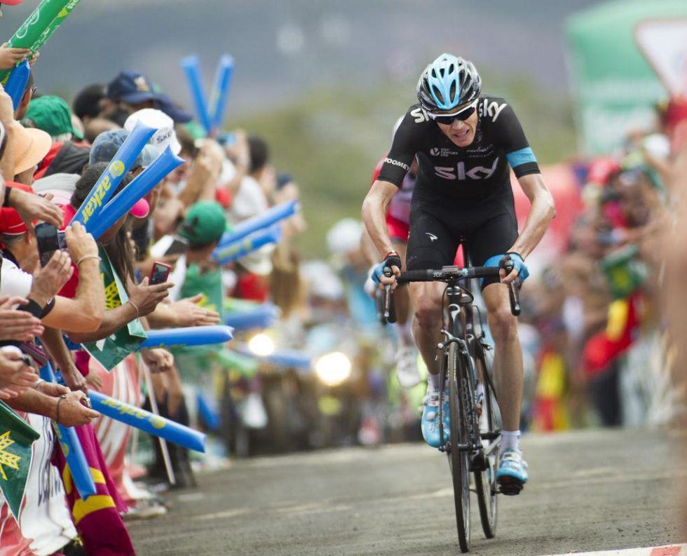 Chris Froome volvi�a a mostrar su mejor versi�n en la monta�a con una gran subida de menos a m�s y terminar sacando ventaja a sus rivales. M�s vivo que nunca en esta Vuelta.