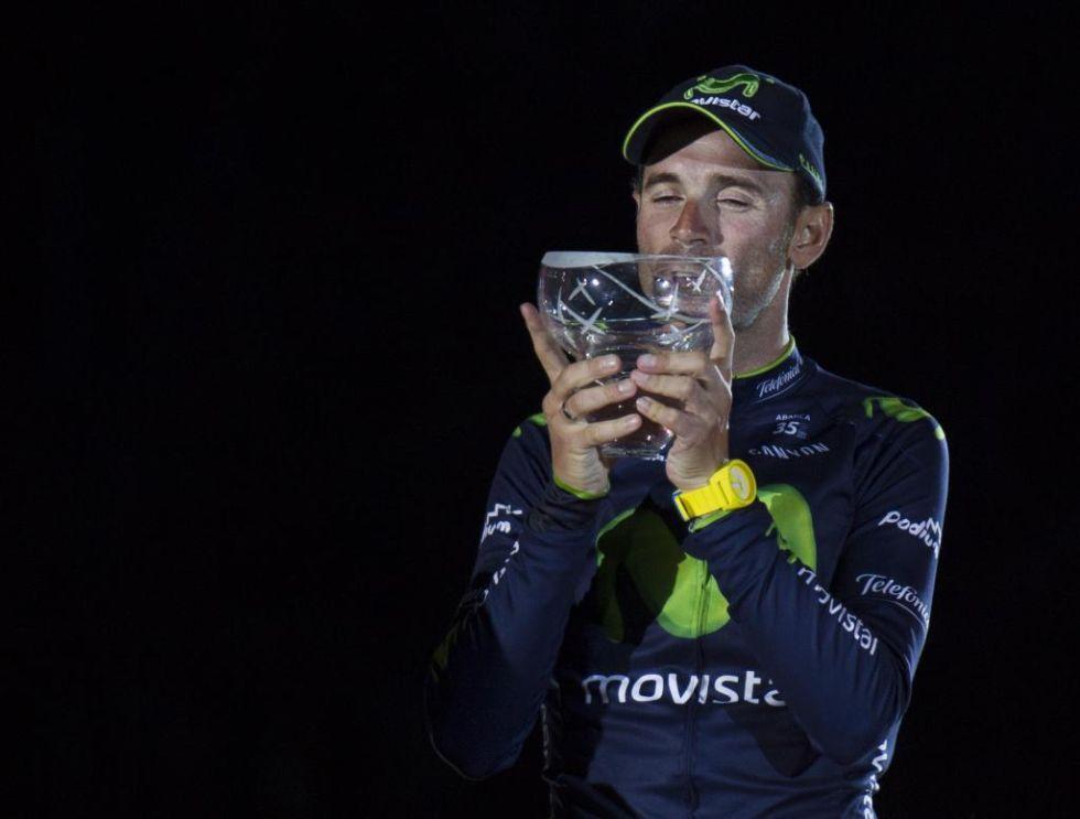 Alejandro Valverde, tercero en la Vuelta, logr� sumar su sexto podio en una gran vuelta por etapas.