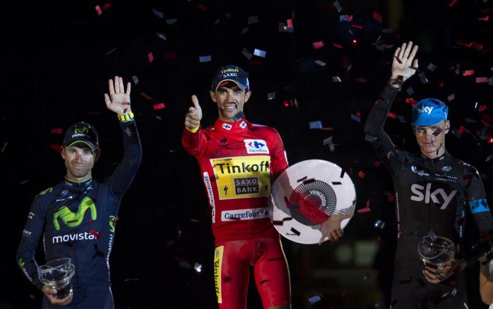 Contador, Froome y Valverde, completaron el podio final de la 69� edici�n de la Vuelta a Espa�a.