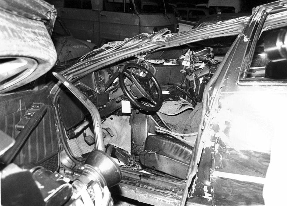 El coche tras el accidente