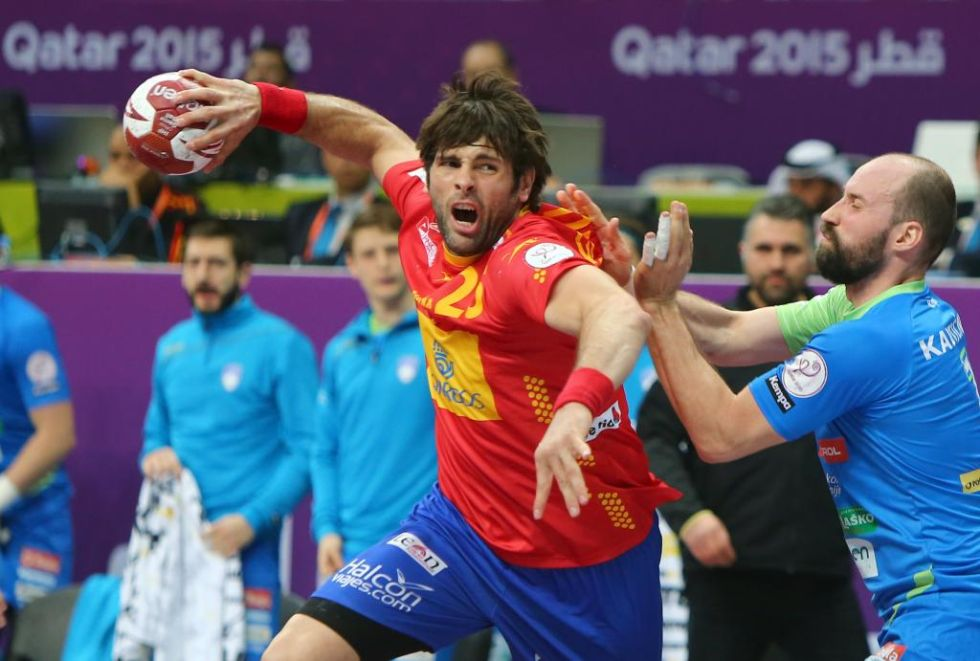Im�genes de la victoria de Espa�a ante Eslovenia, quinta consecutiva en el Mundial de Qatar.