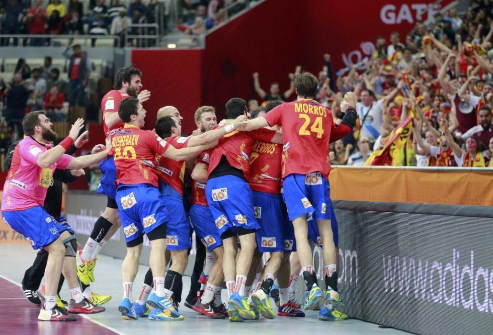 Las mejores im�genes de la victoria de Espa�a sobre Dinamarca en los cuartos de final del Mundial de balonmano.