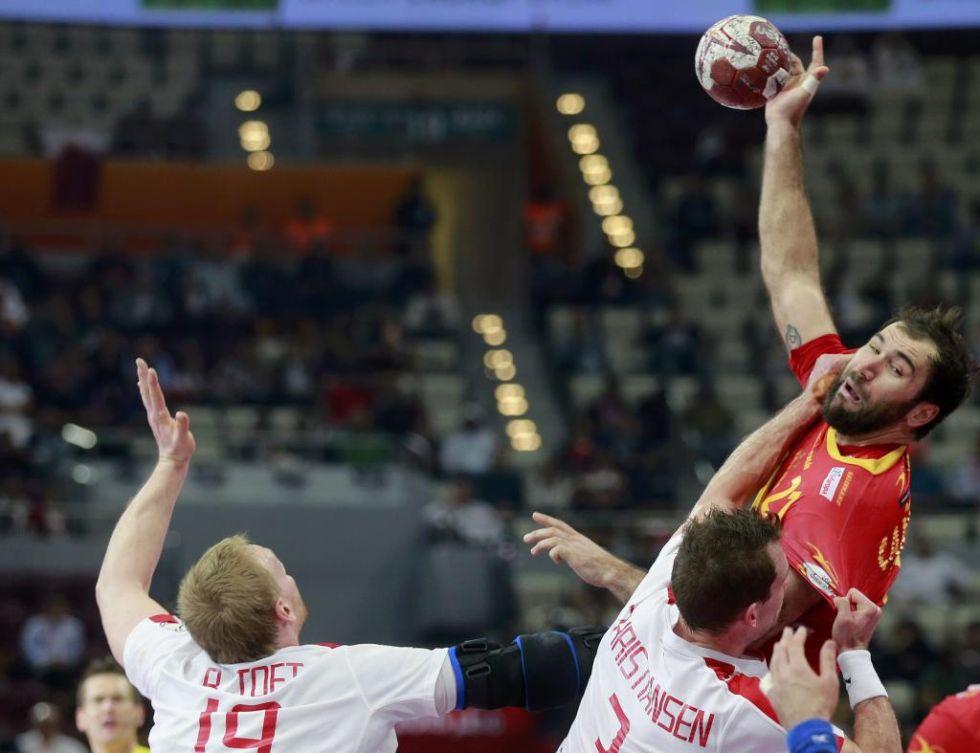 Las mejores imágenes de la victoria de España sobre Dinamarca en los cuartos de final del Mundial de balonmano.