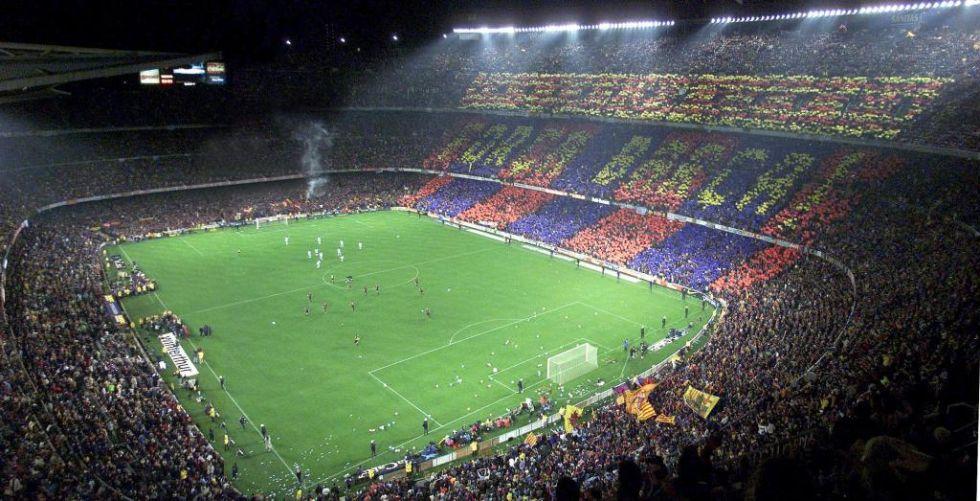 <strong>5. Camp Nou: </strong> el estadio del FC Barcelona tiene capacidad para 99.354 espectadores.