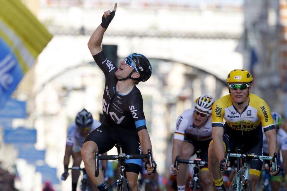 Viviani dedic� la victoria a su mec�nico Farronato, recientemente fallecido y que le ense�� los secretos de la bicicleta.